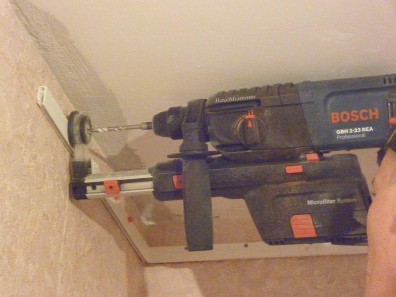 Установка крепления потолка Фото №3